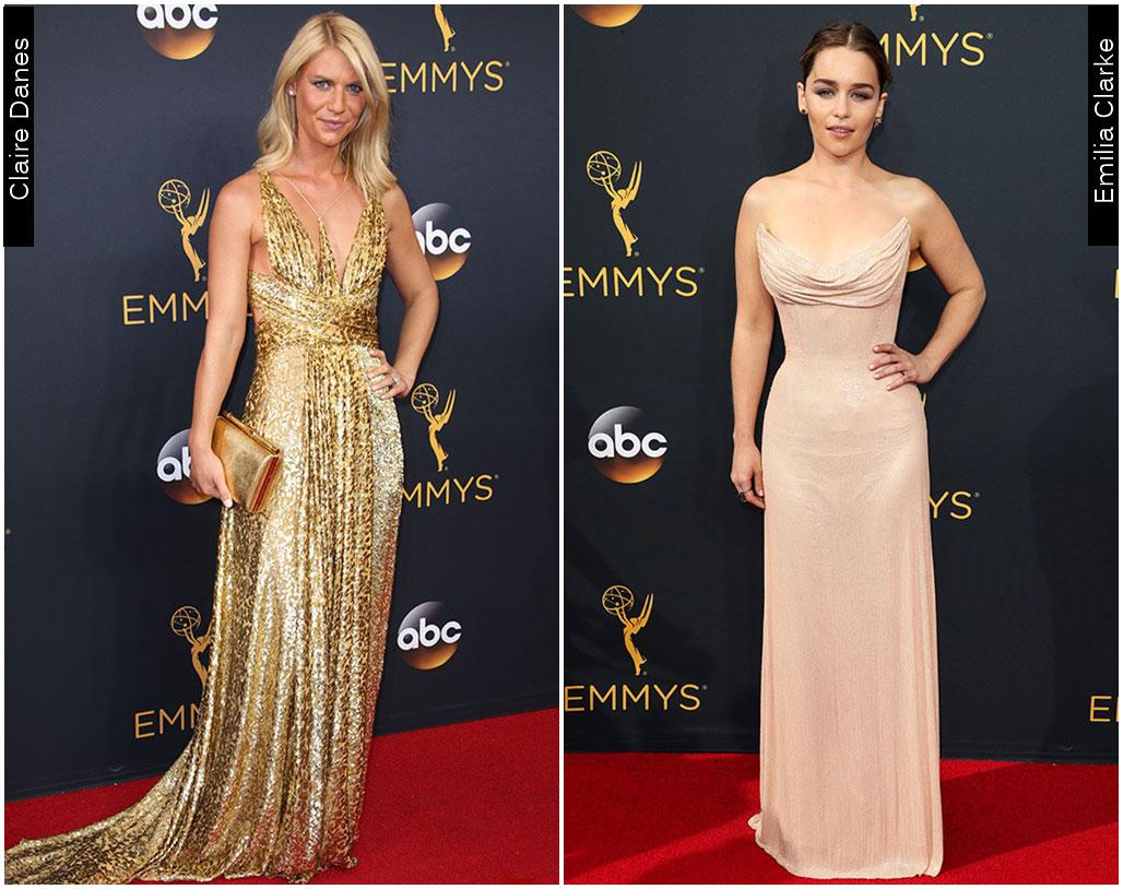 Red Carpet Emmys 2016 Emilia Clarke Claire Danes