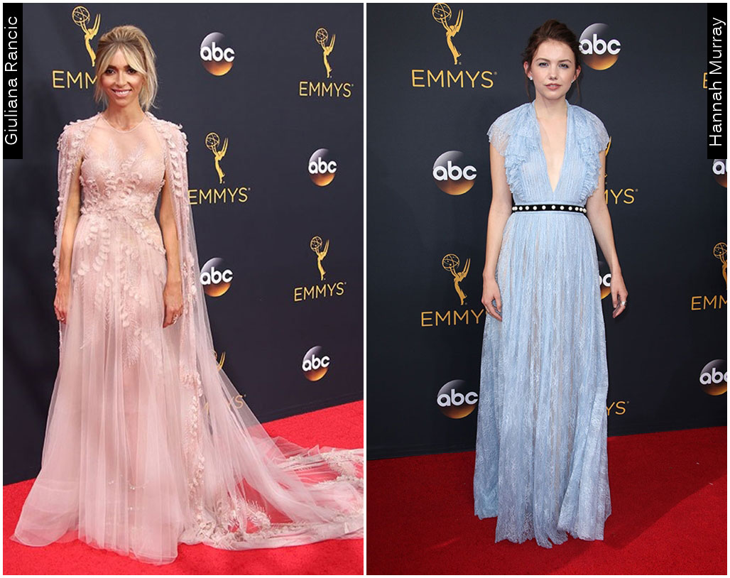Red Carpet Emmys 2016 Giuliana Rancic Hannah Murray