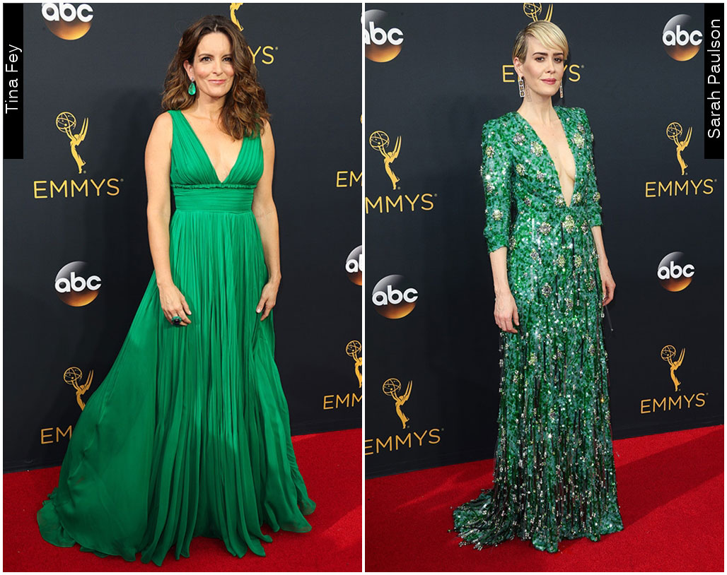 Red Carpet Emmys 2016 Sarah Paulson Tina Fey