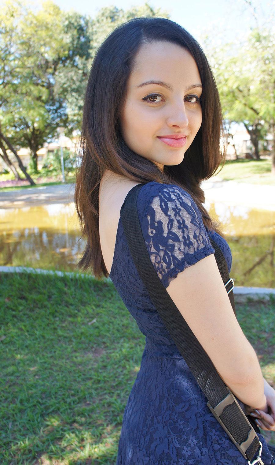 Look Vestido de Renda Azul